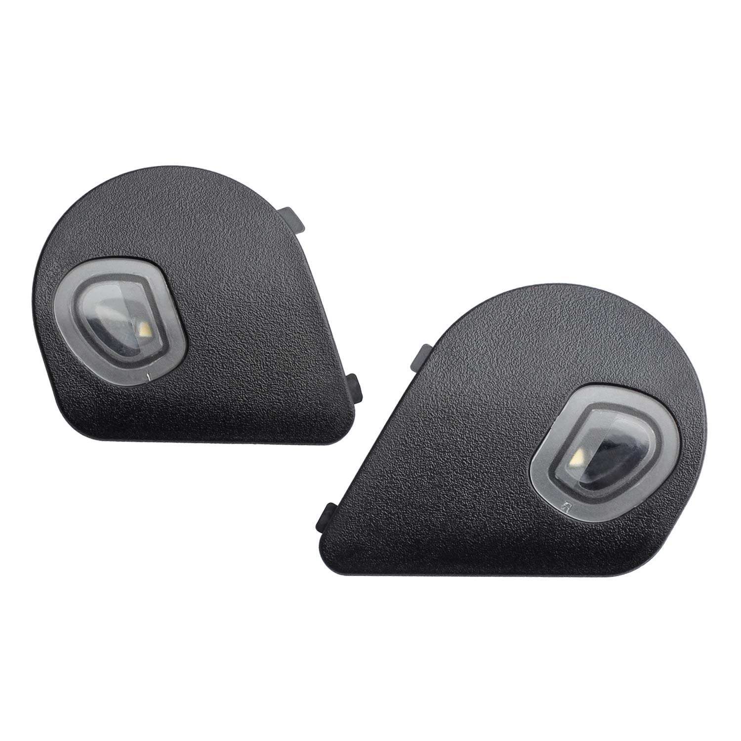 HERCOO LED Puddle Lights Driver and Passenger Side Mirror White Lamps Smoked Lens Compatible with 2010-2018 Dodge Ram 1500 2500 3500 Pack of 2