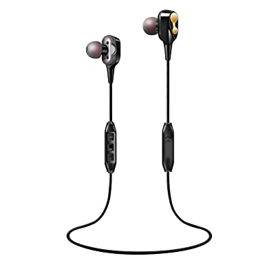 Dynamic 2 Drivers Bluetooth Earbuds Ar85 V 5.0 4.0 Compatiable Noise Isolating Earphones with 12 Hours Battery IPX7 Safeguard Wireless Headphones with Mic for Bose,Beats.