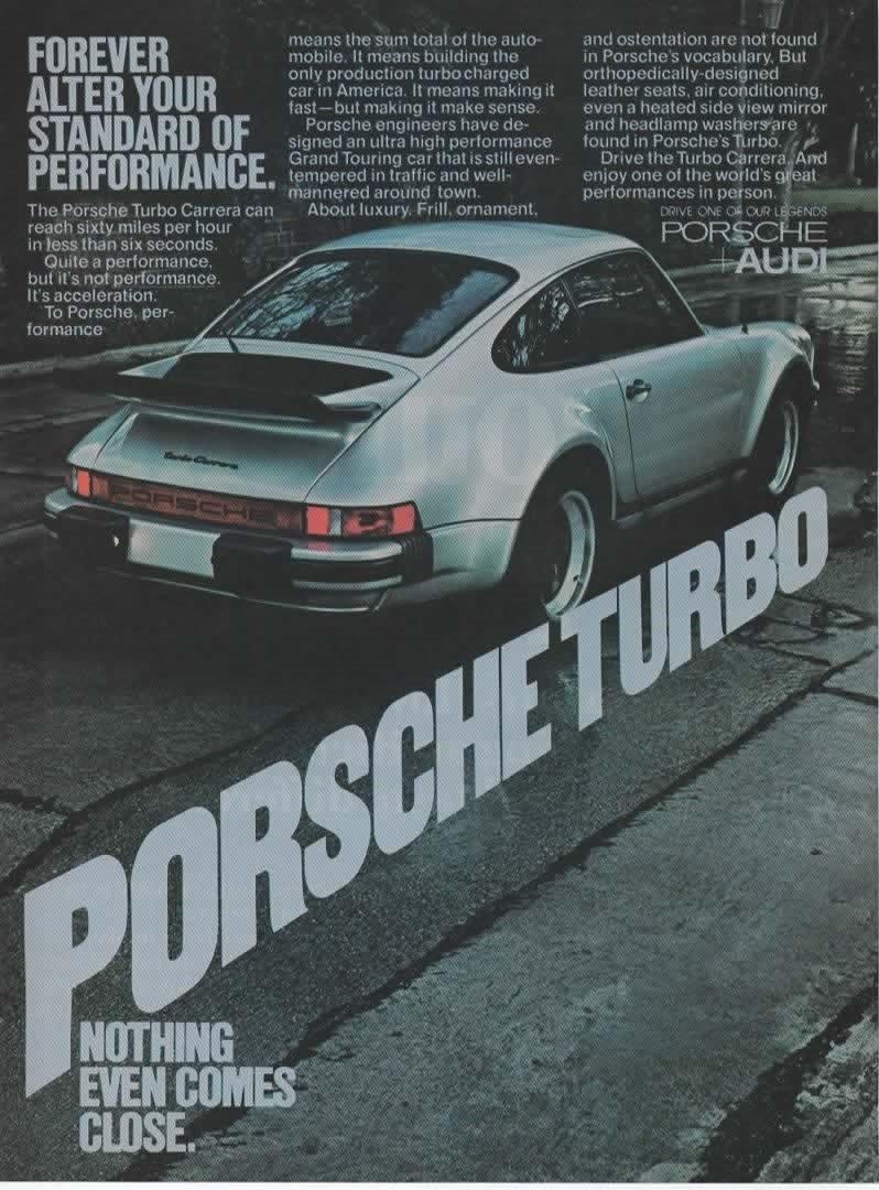 Amazon.com: Magazine Print Ad: 1977 Porsche Turbo Carrera,