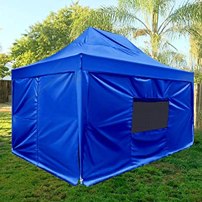 Quictent Privacy 10x15 Feet EZ Pop up Canopy Tent Instant Shelter Outdoor Gazebo with 4 Removable Sides Waterproof-(Royal Blue) : Garden & Outdoor