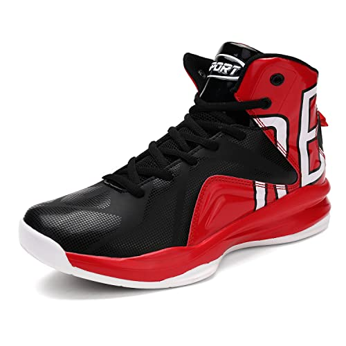 ASHION Zapatillas de Baloncesto para hombre, (Rojo 43 EU)