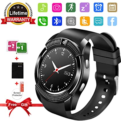 Amokeoo SFABFEMIT Bluetooth Smart Watch with Camera Touchscreen,Smart Watches Waterproof Unlocked Phones Watch with SIM Card Slot Compatible with ...