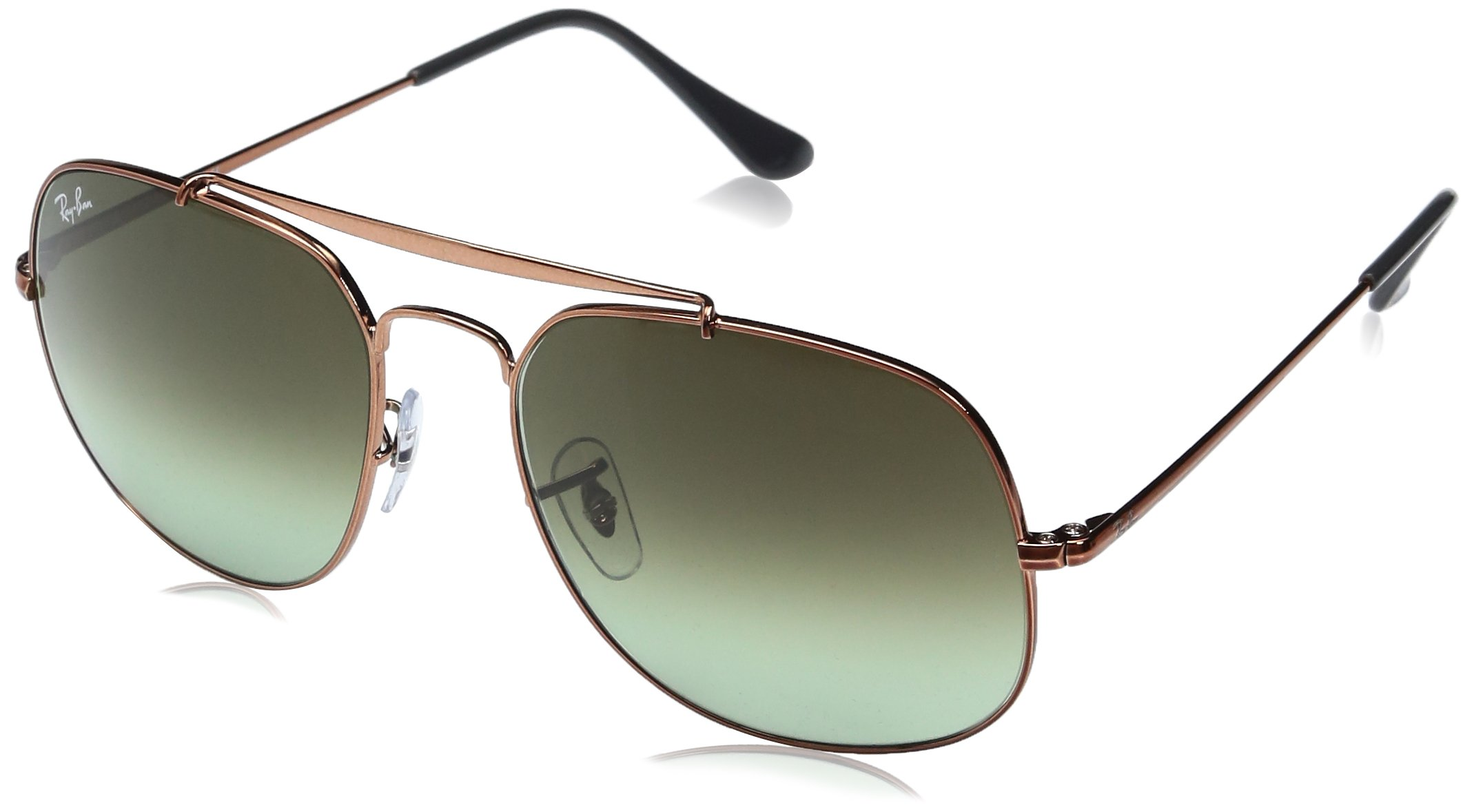 Ray-Ban Men's Steel Man Square Sunglasses, Medium Bronze, 57 mm