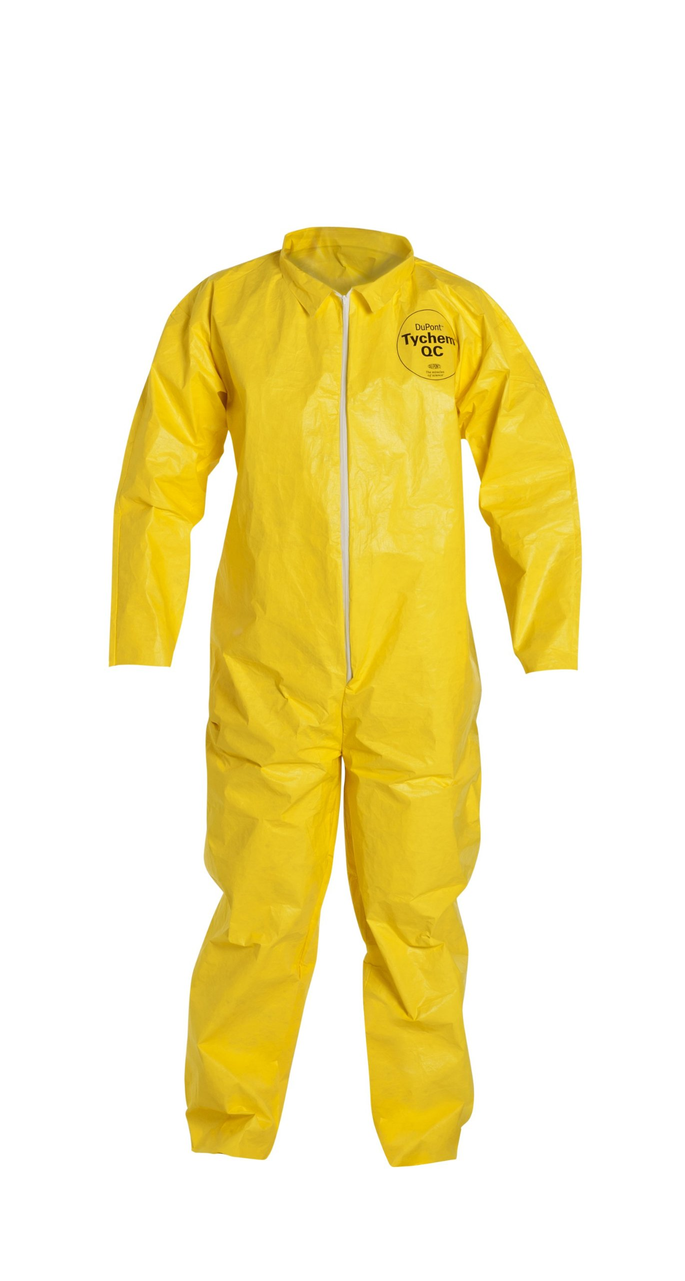 DuPont Tychem 2000 QC120S Disposable Chemical Resistant Coverall with Serged Seams and Open Cuff, Yellow, Medium (Pack of 12)