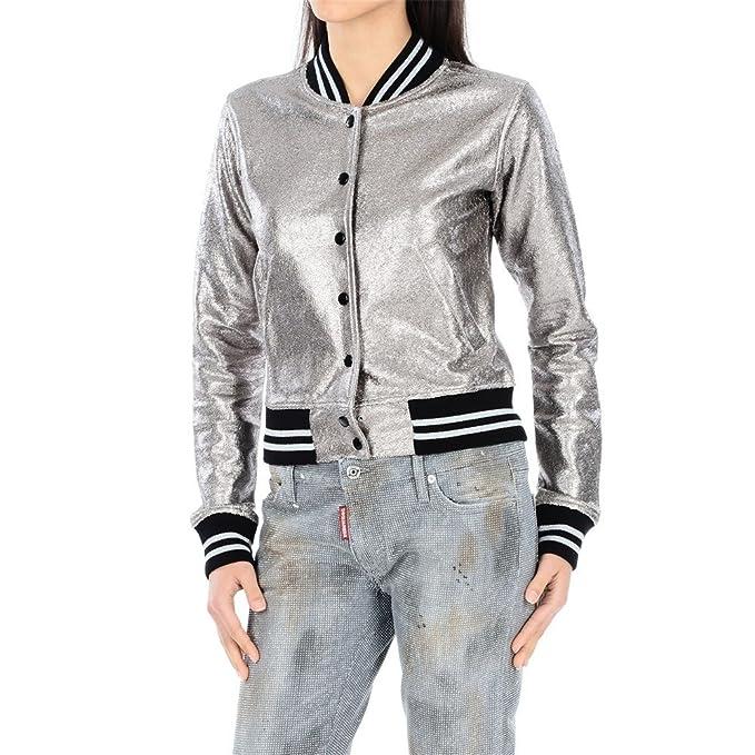 Etiqueta Negra - Abrigo - para mujer plateado plata: Amazon.es: Ropa y accesorios