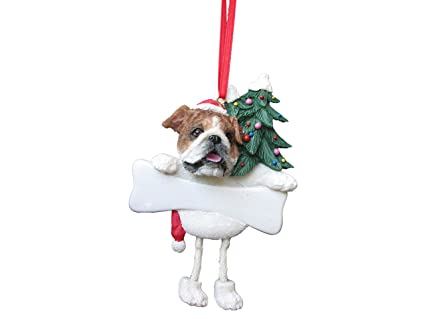 "Bulldog Ornament with Unique ""Dangling Legs"" Hand Painted and  Easily Personalized Christmas Ornament - Amazon.com: Bulldog Ornament With Unique"