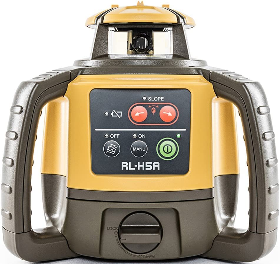 TOPCON RL-H5A RECHARGEABLE SELF-LEVELING ROTARY SLOPE LASER LEVEL,RB,GRADE,INCH