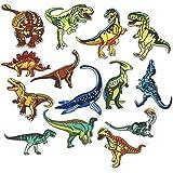 14pcs ropa parche animal dinosaurio patrón bordado bricolaje hierro-en parches de ropa para T-shirt Jeans Ropa bolsas