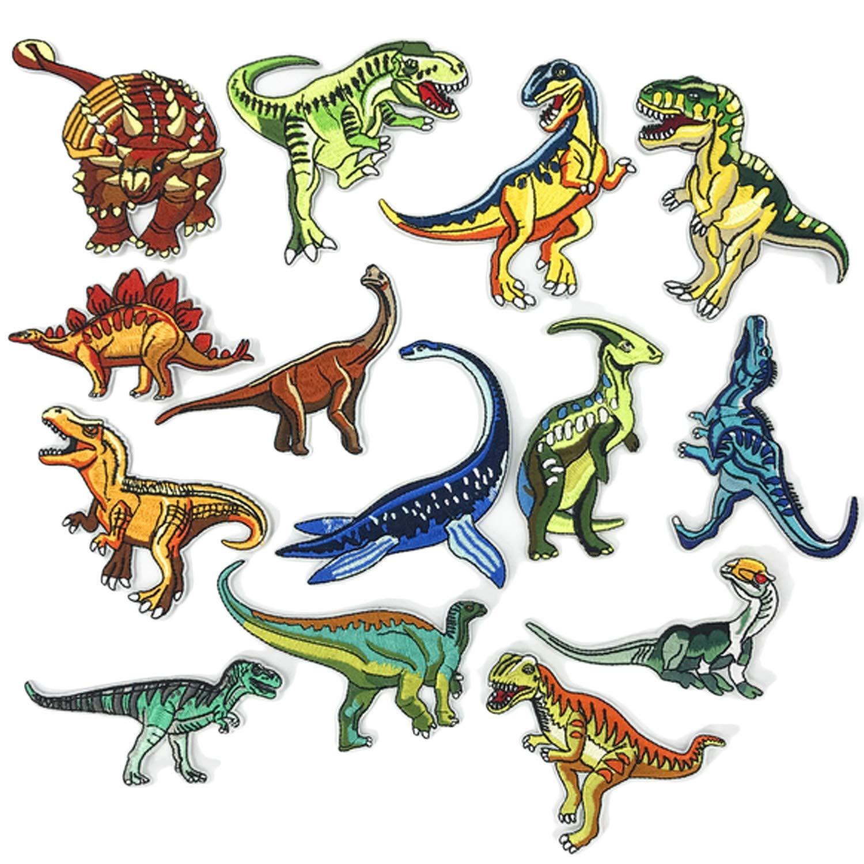 14pcs ropa parche animal dinosaurio patrón bordado bricolaje hierro ...
