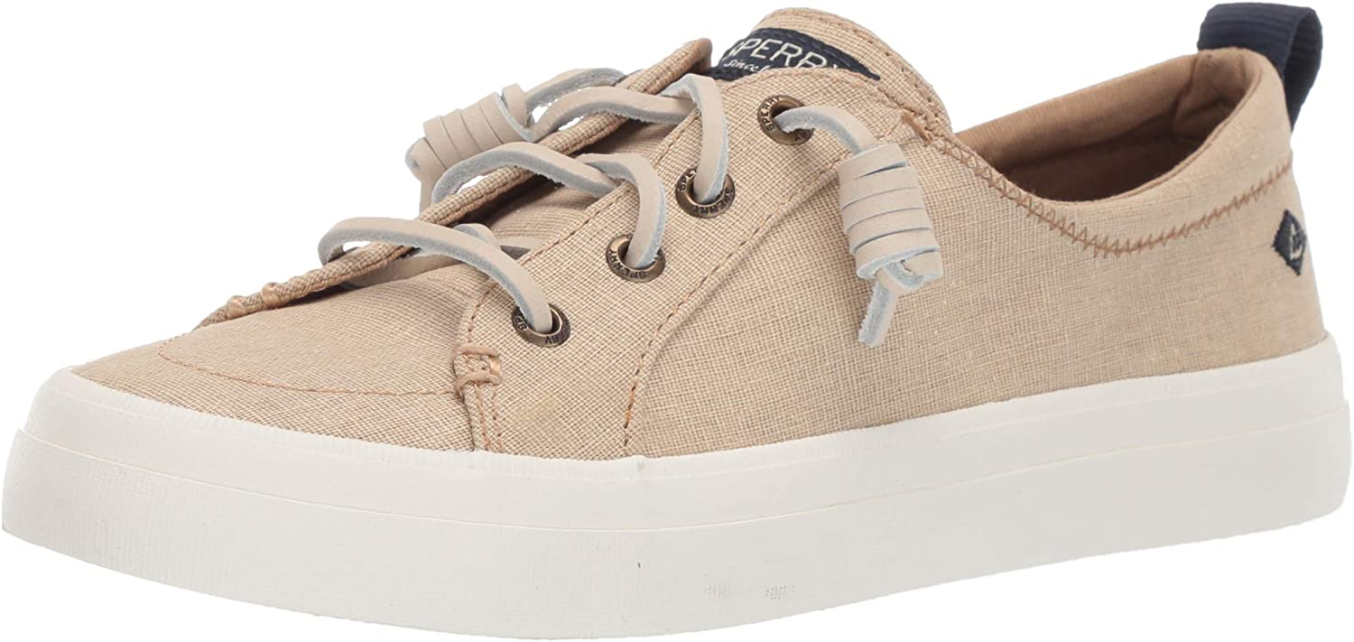 SPERRY Women's Crest Vibe Washed Linen Sneaker