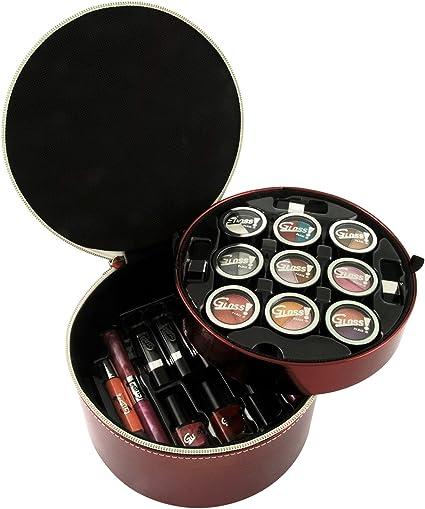 Gloss - caja de maquillaje, caja de regalo para mujeres - Maleta de Maquillaje - Luxurious Collection Red - 34 Pcs: Amazon.es: Belleza
