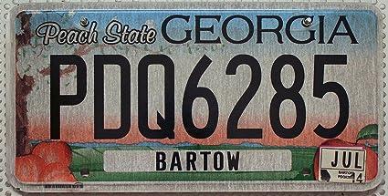 Nummernschild Georgia Peach State Us License Plate Usa Autokennzeichen Blechschild Auto