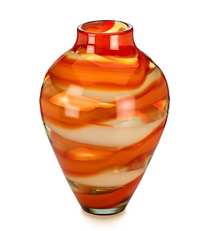 Evolution By Waterford Red Sea Vase 17 Amazon Home Kitchen