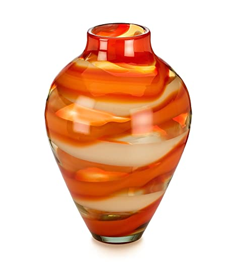 Evolution By Waterford Red Sea Vase 17 Amazon Kitchen Home