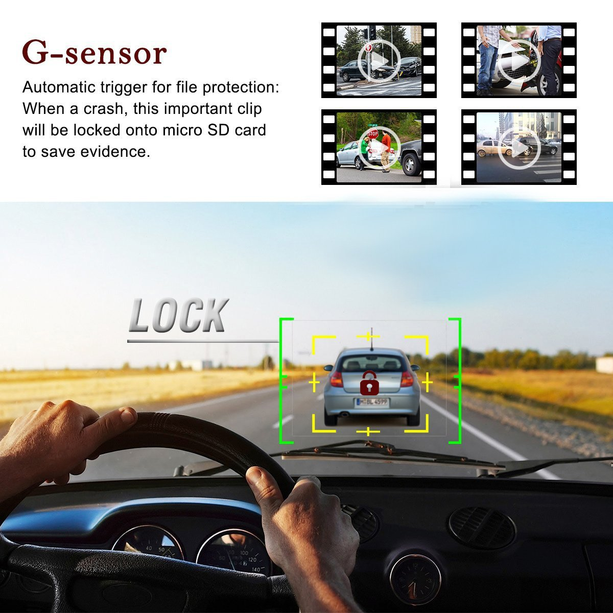 Dash Cam 1080P Full HD with 6 IR LED Night Vision,Dashboard Camera Recorder with High Sensitive G-sensor,Motion Detection,Parking Monitor,Loop Recording,140/°Wide Angle
