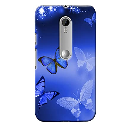buy online 57201 0571f Clapcart Moto G3 Designer Printed Back Cover for Moto G 3rd Gen/Moto G  Turbo Edition -Blue Color (Butterfly)