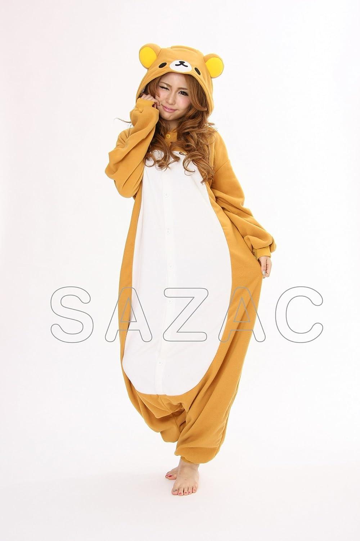 Adult Rilakkuma Kigurumi Pajama Fancy dress costume Standard