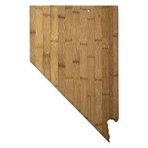 Totally Bamboo 20-7974NV Nevada State Shaped Bamboo Serving & Cutting Board