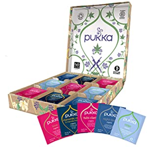 Pukka Relax Selection Gift Box, Collection of Organic Herbal Teas (1 Box, 45 Sachets)