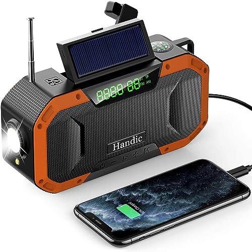 5000mAh の大容量で安心できるHandicの防災ラジオ