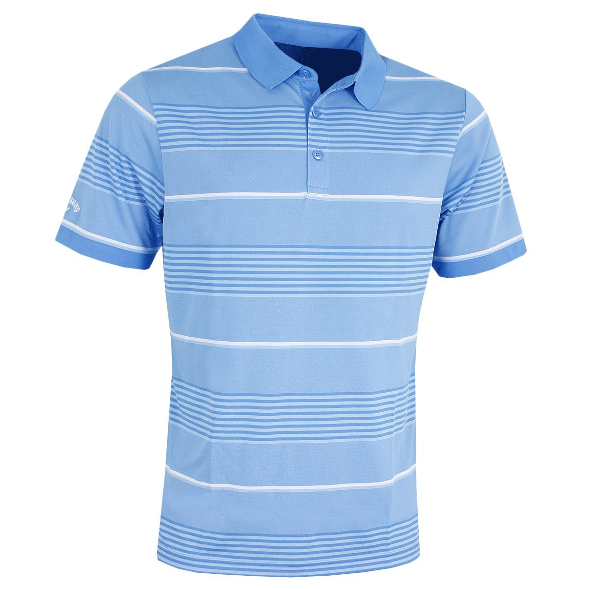 Callaway Golf 2018メンズopti-dri 3 Colour Stripe Golf Poloシャツ B078SX1JPD Large|ブルー ブルー Large