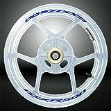 Reflective Blue Motorcycle Inner Rim Tape Sticker