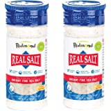 Redmond Real Sea Salt - Natural Unrefined Gluten Free Fine, 10 Ounce Shaker (2 Pack)