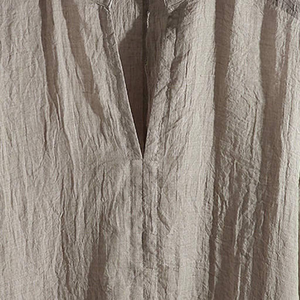 Chouron Men Guayabera Shirt Linen Pleated Relaxed Fit Half Sleeve Summer Top Cooling Yoga T-Shirt Crewneck Polo-Shirt