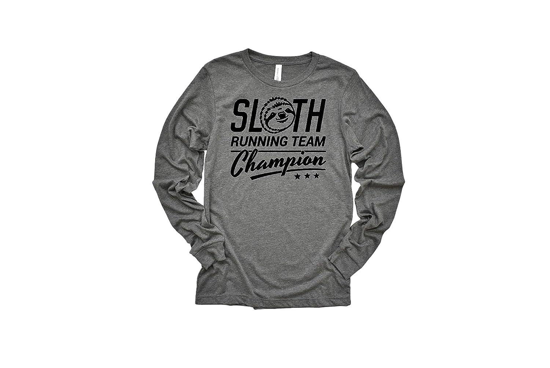 Amazon Com Funny Running T Shirt Womens Grey Long Sleeve Sizes S Xl Sloth Running Team Shirt Slow Runner Tee Handmade