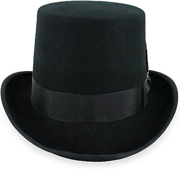 9032d61a1e7 Belfry Topper 100% Wool Satin Lined Men s Top Hat in Black Grey Navy Pearl