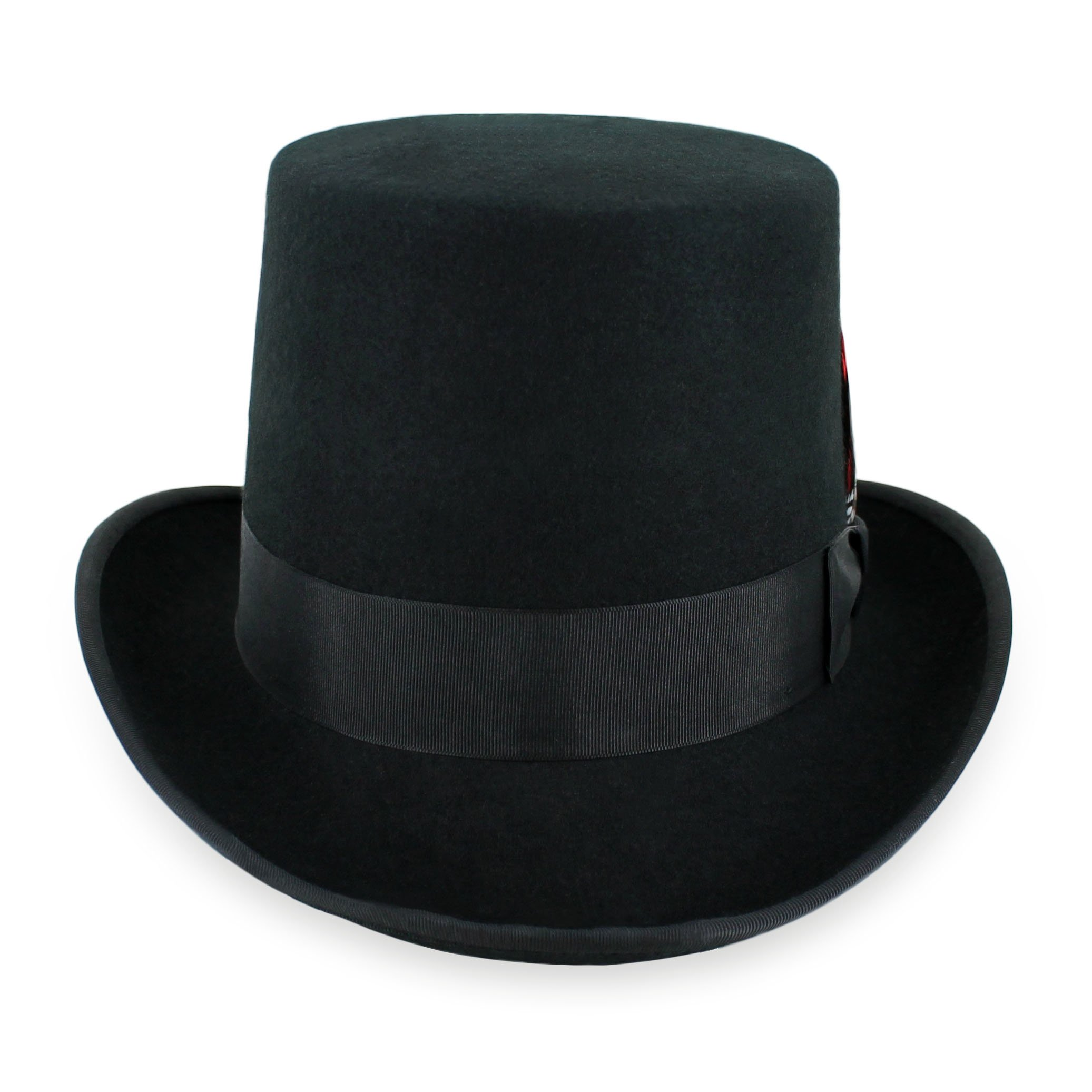 Belfry Topper 100% Wool Satin Lined Men's Top Hat in Black Available in 4 Sizes (XXL, Black)