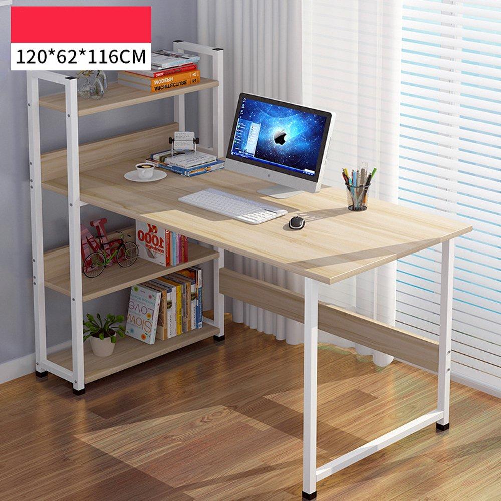 ソリッドウッドテーブルデスクトップコンピュータデスクシンプルな家庭用コンピュータデスク デスク 木製 B07BC9F9R8