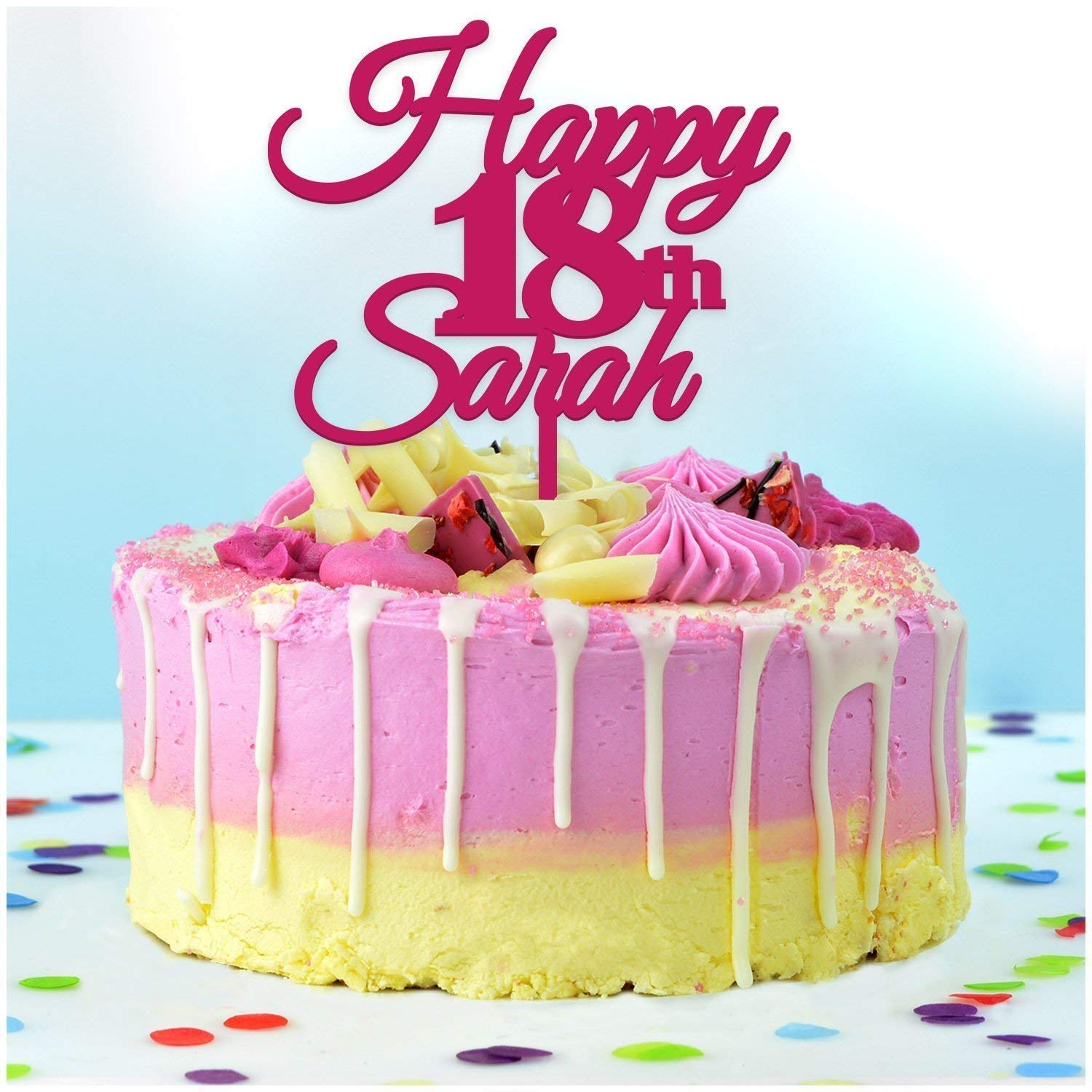 Wondrous 18Th Birthday Cake Topper Personalised Any Name Any Age Custom Funny Birthday Cards Online Bapapcheapnameinfo