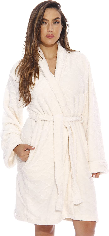 Just Love Printed Plush Robe for Women