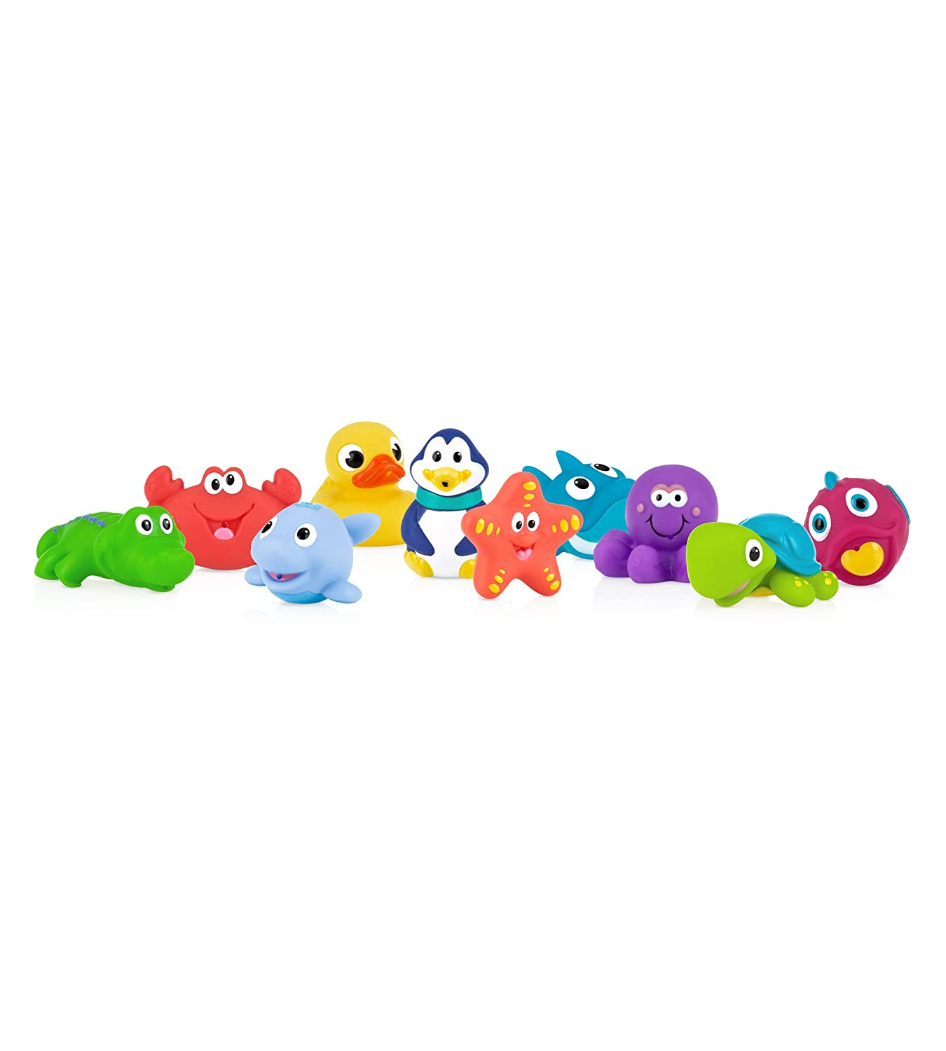 Nuby 10 Piece Bath Squirters Multi Amazon Baby