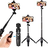 Ottertooth Selfie Stick Tripod, 102 cm Extendable Selfie Stick with Wireless Remote and iPhone Tripod Stand for iPhone X/8 Plus/8/7 Plus/7/Galaxy/Google