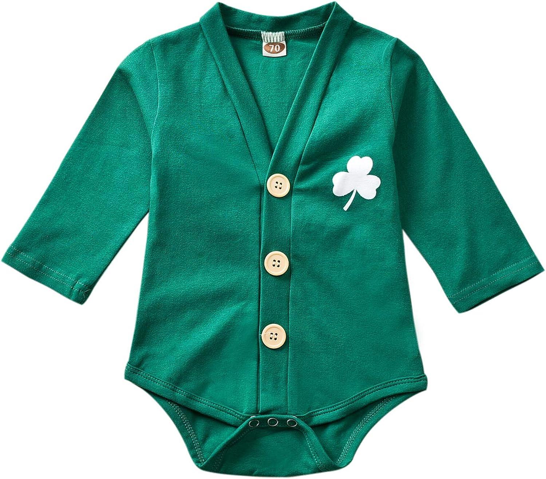 HINTINA Neugeborenes Baby Kleinkind Jungen M/ädchen Kleidung vierbl/ättriges Kleeblatt Anzug 2 St/ück Infant Unisex Outfits Sets
