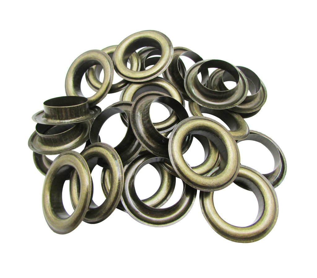 Amanaote 22mm Internal Hole Diameter Bronze Eyelets Grommets with Washer Self Backing Pack of 25 Sets