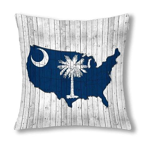 Kinhevao Bandera de Carolina del Sur con el Mapa de América ...