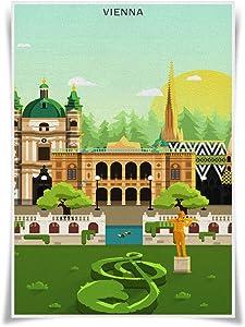 Nice Captain Travel Posters Famous Tourist Sites Prints A3 Size Wall Art Home Decor (Austria Vienna)
