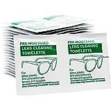 Kit per pulire le lenti pre-umidificato (200 unità) da utilizzare come salviette per la pulizia degli occhiali o la pulizia degli occhiali da vista