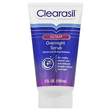 Clearasil Ultra Overnight Facial Scrub, 5 oz (6 Pack) SECRET KEY Black Snail Original Cream