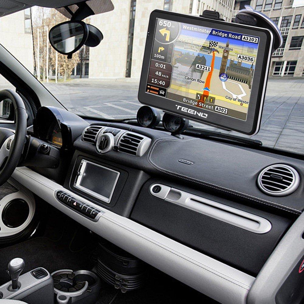 Teeno GPS Navigation for Car (5inch) Car GPS Navigator built-in Satellite Navigation System, Voice Notification, Lifetime Maps and Traffic, Driver Alerts