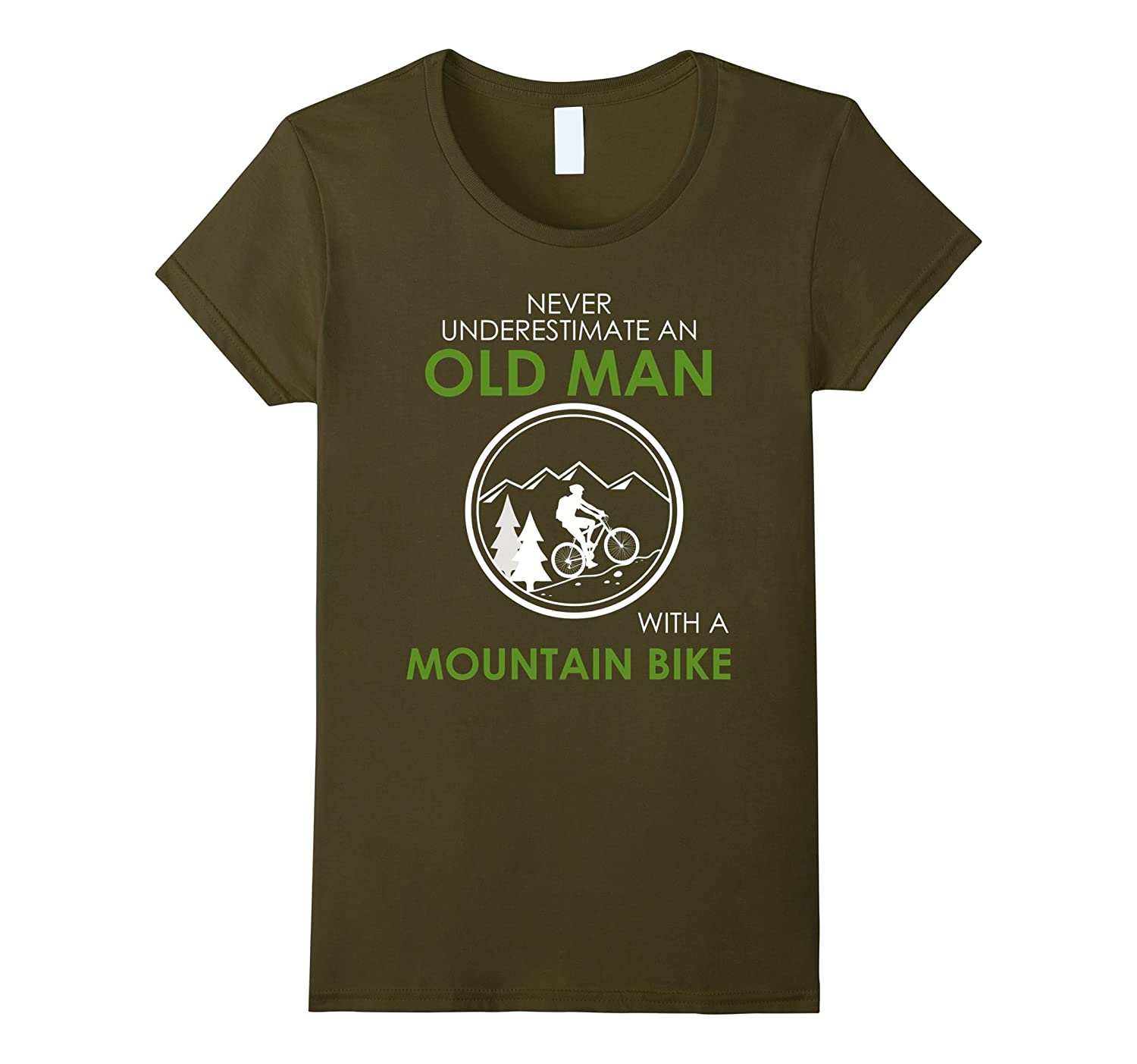 Never Underestimate a Old Man With a Mountain Bike T-Shirt-Teehay