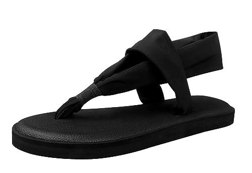 5852b15571c68 KALEIDO Women s Lightweight Yoga Mat Thong Sandals Flip-Flops (5 B(M)