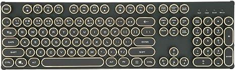 USB rétro Machine à écrire mécanique Clavier rétroéclairé