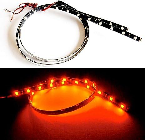 "RC LED Underbody Light Strips 2 x 6/"" Super bright Lights Amber"