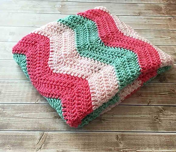 Amazoncom Chevron Baby Blanketripple Pattern Crochet Blanket