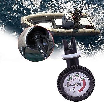 Manometer Anzeige und Luftventil mit Kappe für aufblasbares Kajak Kanu SUP