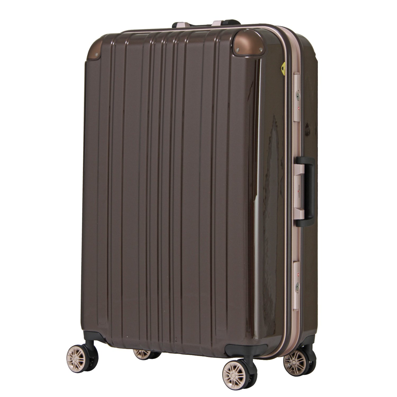 【レジェンドウォーカー】LEGEND WALKER スーツケース アルミフレーム 鏡面ボディ TSAロック 軽量 機内持込~大型 5122 B0798F6P37 Mサイズ(フレーム) モカ モカ Mサイズ(フレーム)
